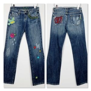 Miss Me Woodstock Embroidered Flare Jeans